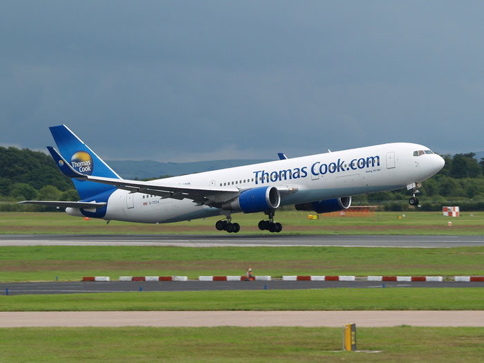 G-TCCA B767-31KER 27205/528 Thomas Cook Airlines @ Manchester Airport 20.07.2012 © Piti Spotter Club Verona