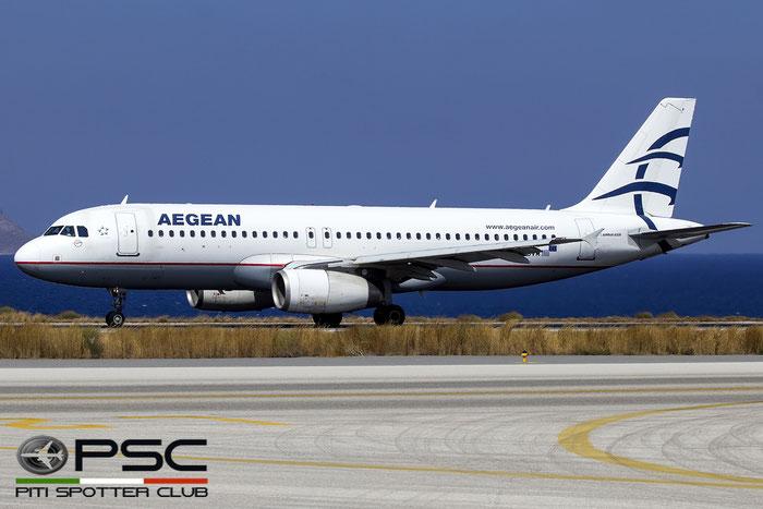 SX-DVM A320-232 3439 Aegean Airlines @ Heraklion Airport 09.2016 © Piti Spotter Club Verona