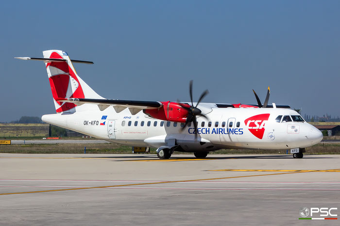 OK-KFO ATR42-500 633 CSA Czech Airlines @ Aeroporto di Verona 29.03.2017  © Piti Spotter Club Verona