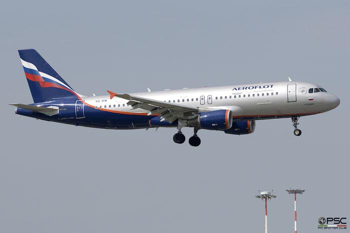 VQ-BIW A320-214 4579 Aeroflot @ Milano Malpensa Airport 05.05.2018 © Piti Spotter Club Verona