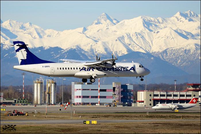 F-GRPJ ATR72-212A 724 Air Corsica @ Milan Malpensa Airport 25.01.2014 © Piti Spotter Club Verona
