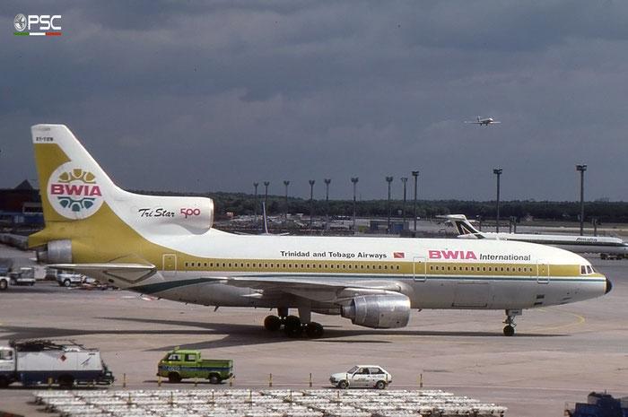 9Y-TGN L-1011-500 193G-1191 BWIA West Indies Airways - British West Indian Airways © 2017 courtesy of Marco Ceschi - Piti Spotter Club Verona