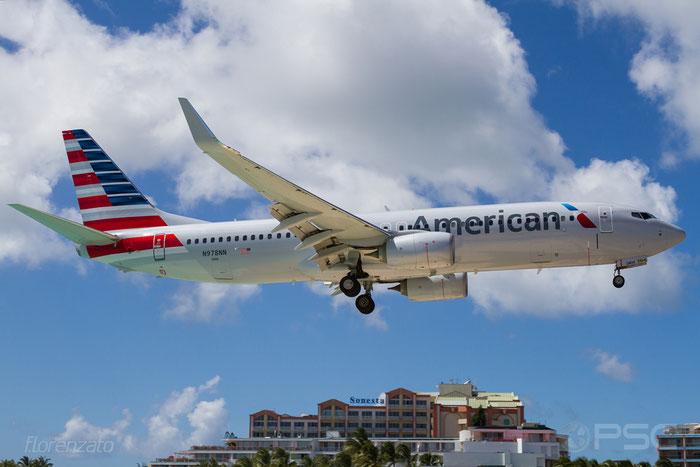 N978NN B737-823 31226/5573 American Airlines @ Sint Maarten Airport 09.04.2016 © Piti Spotter Club Verona
