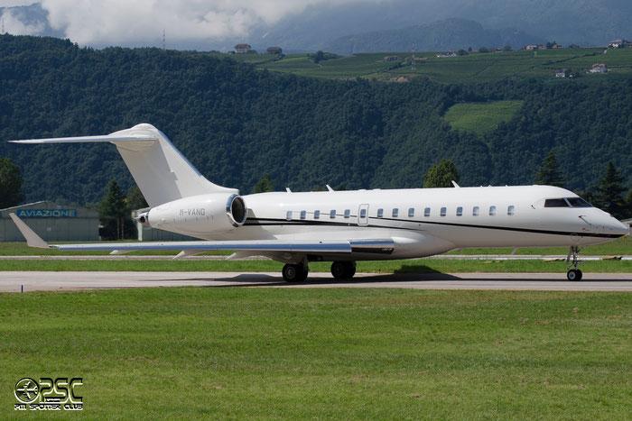 M-VANG Global Express XRS 9349 Elderberry Ltd. @ Aeroporto di Bolzano © Piti Spotter Club Verona