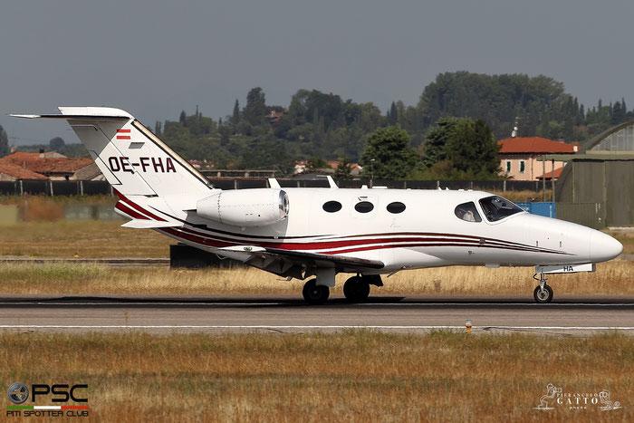 OE-FHA Ce510 510-0081 Globe Air AG @ Aeroporto di Verona 23.08.2017  © Piti Spotter Club Verona