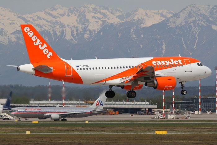G-EZDL A319-111 3569 EasyJet Airline @ Milano Malpensa Airport 14.04.2015 © Piti Spotter Club Verona