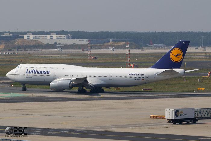 D-ABYD B747-830 37829/1453 Lufthansa @ Frankfurt Airport  25.07.2014 © Piti Spotter Club Verona