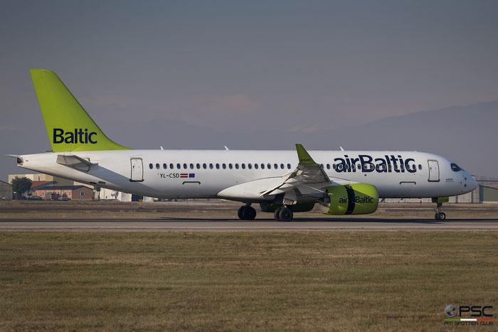 YL-CSD CS300 55006 airBaltic @ Aeroporto di Verona 05.01.2019  © Piti Spotter Club Verona