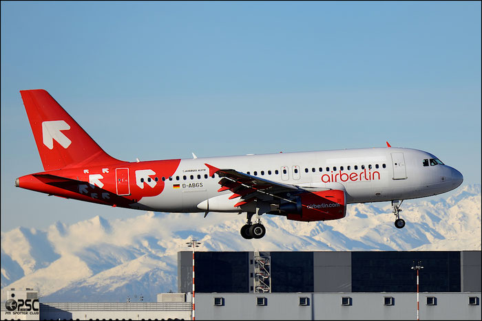 D-ABGS A319-112 3865 Air Berlin @ Milano Malpensa Airport 25.01.2014 © Piti Spotter Club Verona