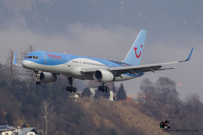 G-OOBH B757-236 29944/872 Thomson Airways @ Innsbruck Airport 09.01.2016 © Piti Spotter Club Verona