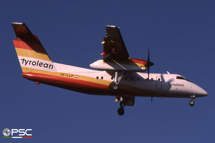 OE-LLP DHC-8-103 076 Tyrolean Airways © 2018 courtesy of Marco Ceschi - Piti Spotter Club Verona