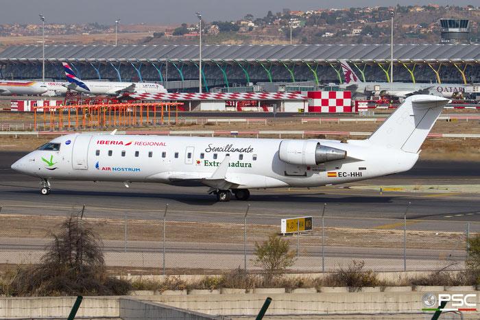EC-HHI CRJ200ER 7343 Iberia Regional  opb Air Nostrum @ Madrid Airport 23.11.2017 © Piti Spotter Club Verona