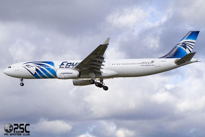 SU-GDV A330-343E 1246 EgyptAir @ London Heathrow Airport 07.02.2014 © Piti Spotter Club Verona