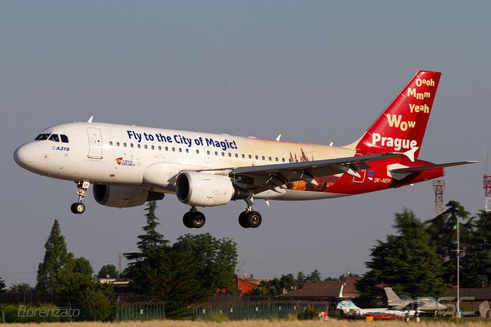 OK-NEP A319-112 3660 CSA Czech Airlines @ Aeroporto di Verona 30.06.2018  © Piti Spotter Club Verona