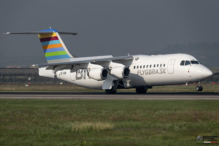 SE-DSR BAe146-RJ100 E3244 BRA - Braathens Regional Airlines @ Aeroporto di Verona 10.2018  © Piti Spotter Club Verona