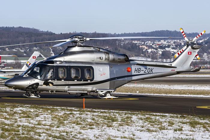 HB-ZQK AgustaWestland AW-139 A139 31711 Swiss Jet AG, Zuerich@ Zurich Airport 21.01.2016 © Piti Spotter Club Verona