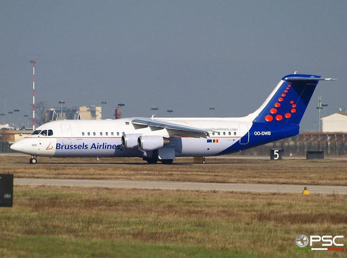 OO-DWB BAe146-RJ100 E3315 Brussels Airlines @ Aeroporto di Verona 01.03.2008  © Piti Spotter Club Verona
