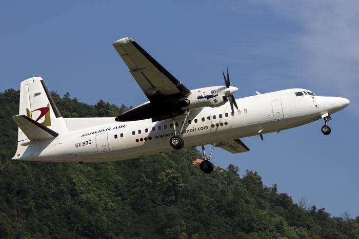 SX-BRS Fokker 50 20206 Minoan Air @ Lugano Airport 19.07.2013 © Piti Spotter Club Verona