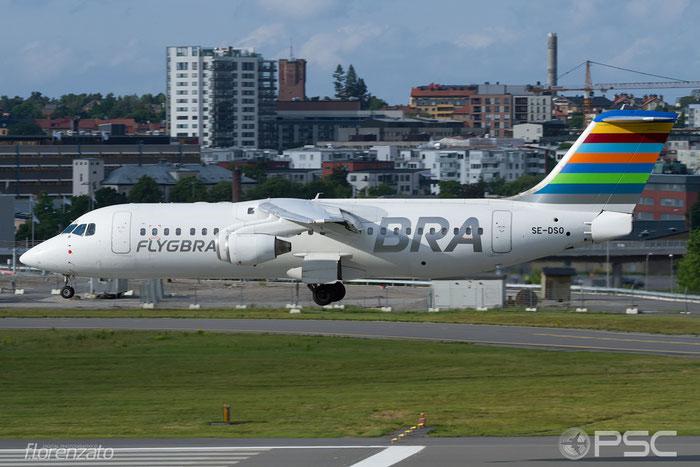 SE-DSO BAe146-RJ100 E3221 BRA - Braathens Regional Airlines @ Stockholm Bromma Airport 19.08.2016 © Piti Spotter Club Verona