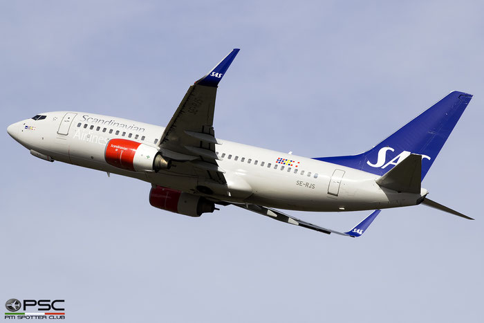 SE-RJS B737-76N 32684/1889 SAS Scandinavian Airlines - Scandinavian Airlines System @ Edinburgh Airport 04.04.2017 © Piti Spotter Club Verona
