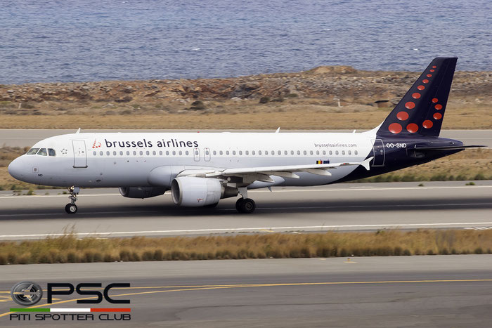 OO-SND A320-214 1838 Brussels Airlines @ Heraklion Airport 09.2016 © Piti Spotter Club Verona