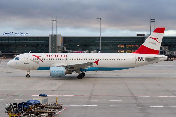 OE-LBM A320-214 1504 Austrian Airlines @ Frankfurt Airport 22.10.2014 © Piti Spotter Club Verona