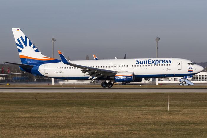 D-ASXG B737-8CX 32366/1235 SunExpress Germany @ Munich Airport 28.12.2015 © Piti Spotter Club Verona