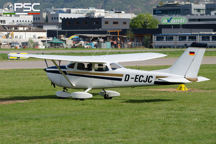 D-ECJC. Reims-Cessna F172H Skyhawk @ Aeroporto di Bolzano © Piti Spotter Club Verona