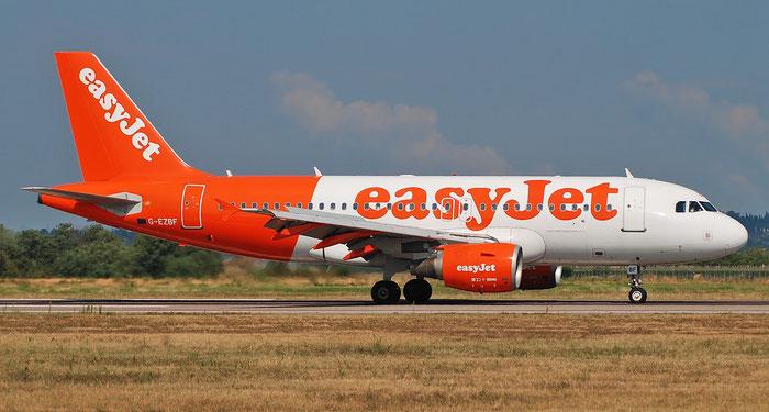 G-EZBF A319-111 2923 easyJet @ Aeroporto di Verona 22.08.2018  © Piti Spotter Club Verona
