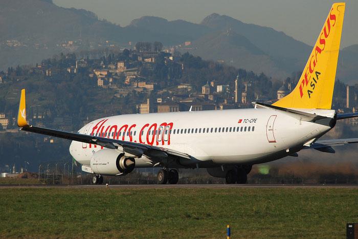 TC-CPE B737-82R 38178/4023 Pegasus Airlines @ Bergamo Airport 05.01.2015 © Piti Spotter Club Verona