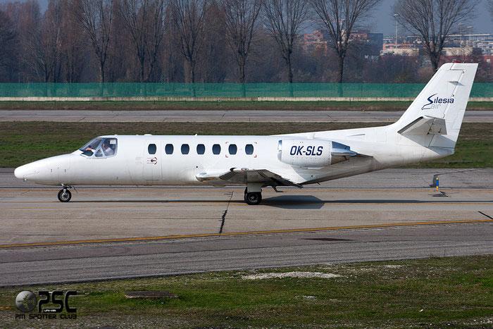 OK-SLS Ce560 560-0088 Silesia Air @ Milano Linate Airport 08.03.2014 © Piti Spotter Club Verona