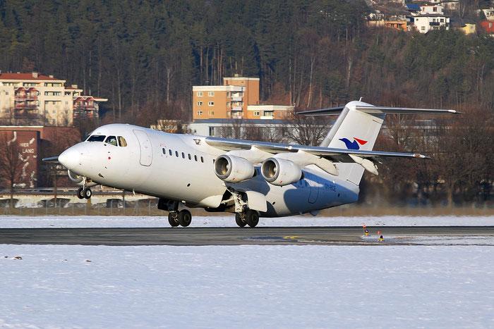OY-RCE BAe146-RJ85 E2233 Atlantic Airways (Faroe Islands) @ Innsbruck Airport 01.2012 © Piti Spotter Club Verona