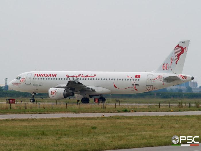 TS-IMG A320-211 390 Tunisair @ Aeroporto di Verona 26.07.2009  © Piti Spotter Club Verona