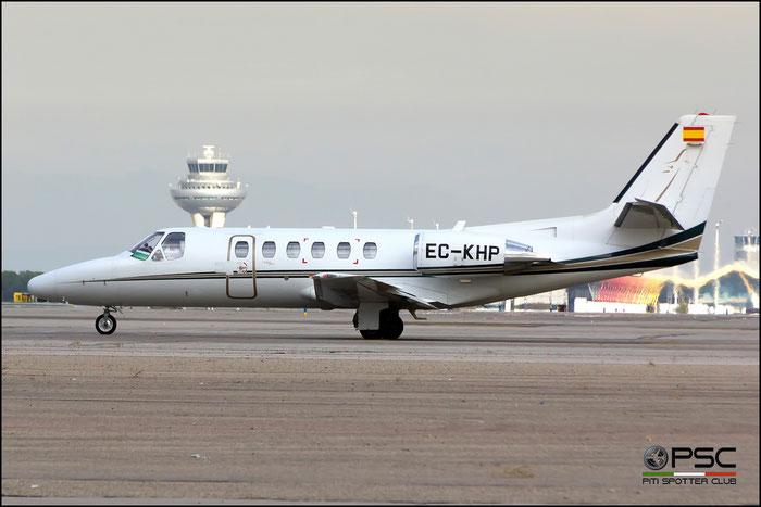 EC-KHP Ce550 Bravo 550-0955 BestFly @ Madrid Airport 23.11.2017 © Piti Spotter Club Verona