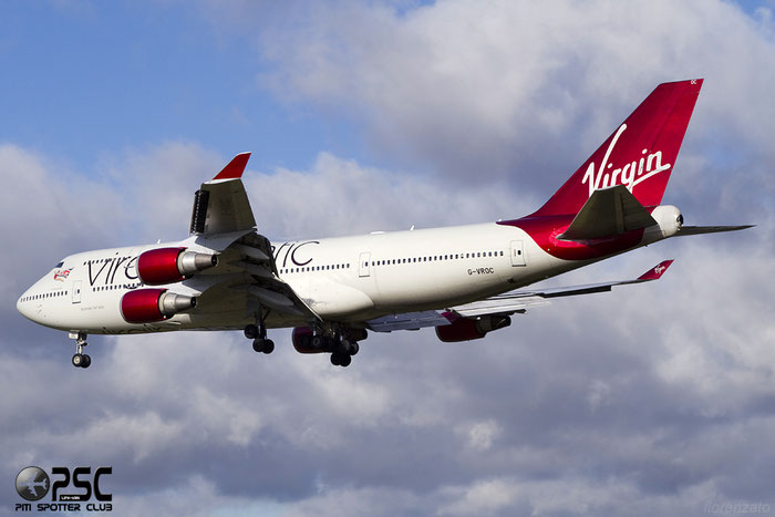 G-VROC B747-41R 32746/1336 Virgin Atlantic Airways @ London Heathrow Airport 07.02.2014 © Piti Spotter Club Verona