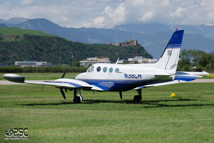 N38CM Cessna 340A C340 340A0901 EICHHORN ROBER @ Aeroporto di Bolzano © Piti Spotter Club Verona