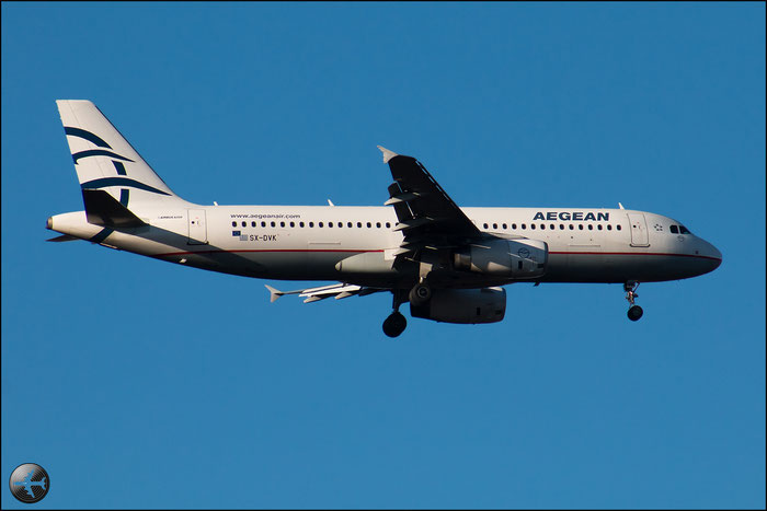 SX-DVK A320-232 3392 Aegean Airlines @ Milano Malpensa Airport 31.01.2015 © Piti Spotter Club Verona