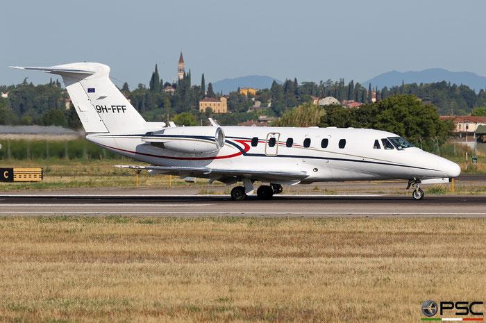 9H-FFF Ce650-VII 650-7080 Luxwing @ Aeroporto di Verona 08.2019  © Piti Spotter Club Verona