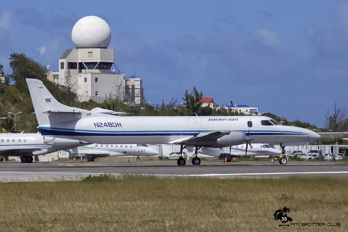N248DH SA227AC AC-630B Ameriflight @ Sint Maarten Airport 05.03.2016 © Piti Spotter Club Verona