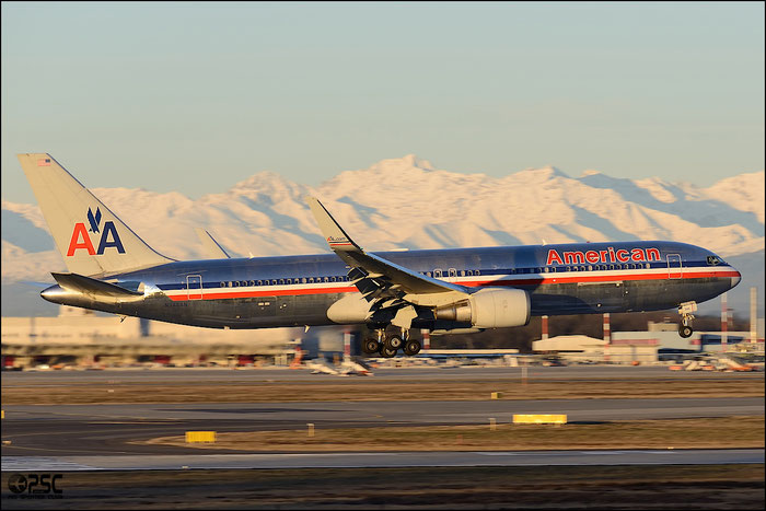 N346AN B767-323ER 33085/907 American Airlines @ Milano Malpensa Airport 25.01.2014 © Piti Spotter Club Verona
