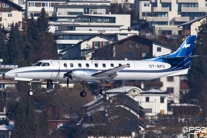 OY-NPD SA227DC DC-865B North Flying @ Innsbruck Airport 27.01.2018 © Piti Spotter Club Verona