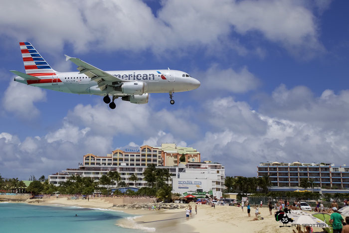 N723UW A319-112 1109 American Airlines @ Sint Maarten Airport 05.03.2016 © Piti Spotter Club Verona
