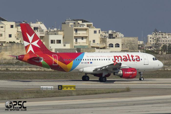 9H-AEH A319-112 2122 Air Malta @ Malta Airport 09.2014 © Piti Spotter Club Verona