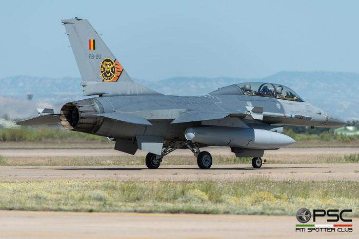 FB20   F-16BM  6J-20  10w © Piti Spotter Club Verona