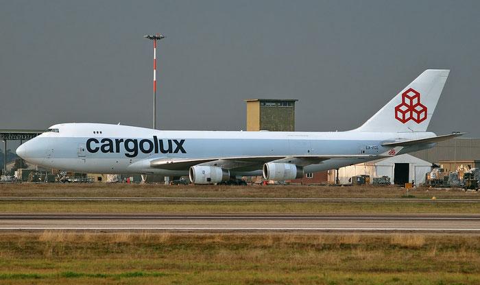 LX-FCL B747-467F 27503/1065 Cargolux @ Aeroporto di Verona 08.02.2018  © Piti Spotter Club Verona