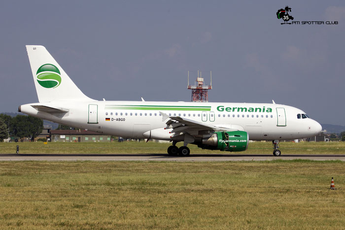 D-ABGO A319-112 3689 Germania @ Aeroporto di Verona 11.08.2018  © Piti Spotter Club Verona