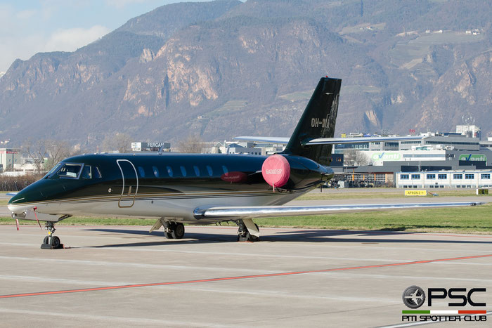 OH-WIA Ce680 680-0215 Jetflite Oy @ Aeroporto di Bolzano © Piti Spotter Club Verona