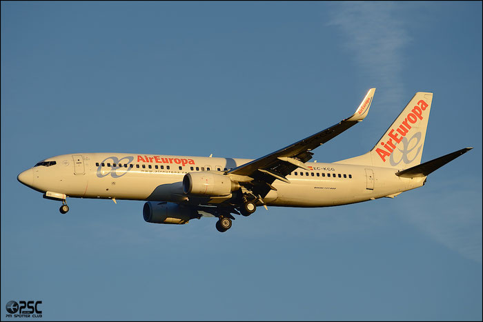 EC-KCG B737-85P 33981/2269 Air Europa @ Milano Malpensa Airport 25.01.2014 © Piti Spotter Club Verona