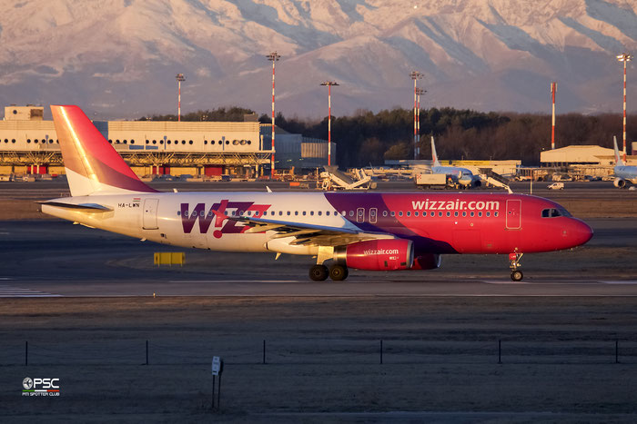 HA-LWN A320-232 5075 Wizz Air @ Milano Malpensa Airport14.01.2017 © Piti Spotter Club Verona