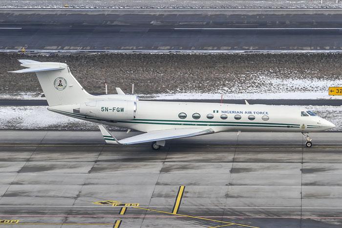 5N-FGW G550 5310 Nigerian Air Force @ Zurich Airport 21.01.2016 © Piti Spotter Club Verona